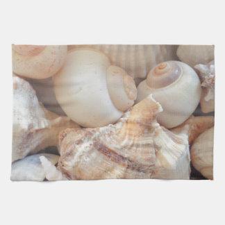 Sunny Summer Seashells, Sea Shells Beach Love Tea Towel