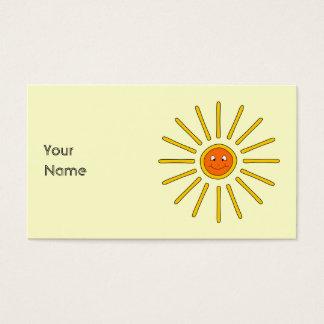 Sunny Summer Sun. Yellow on Cream.