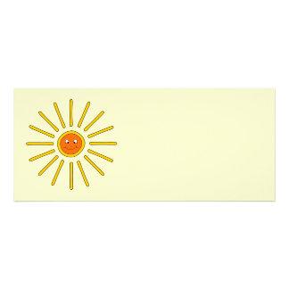 Sunny Summer Sun. Yellow on Cream. Personalized Invites