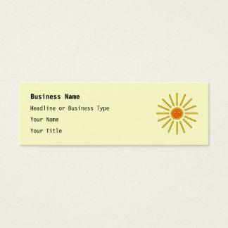 Sunny Summer Sun. Yellow on Cream. Mini Business Card