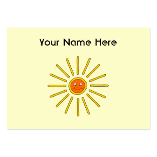 Sunny Summer Sun. Yellow on Cream. Pack Of Chubby Business Cards