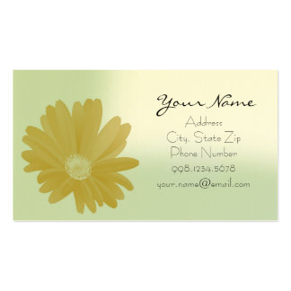 Sunny Sunflower in Green Business Card