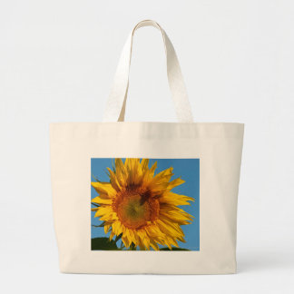 Sunny Sunflower Large Tote Bag
