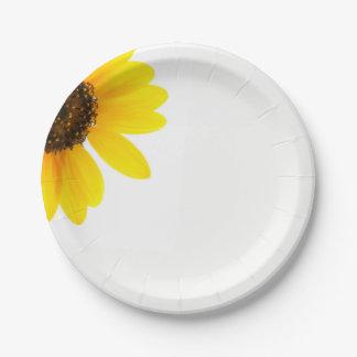 Sunny Sunflower Paper Plates