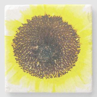 Sunny Sunflower Stone Coaster