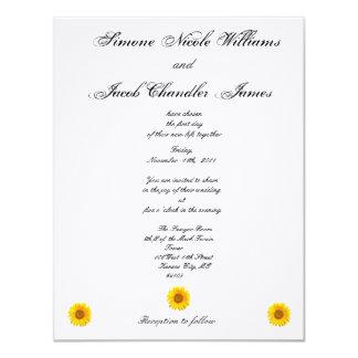 Sunny Sunflower Wedding Invitation