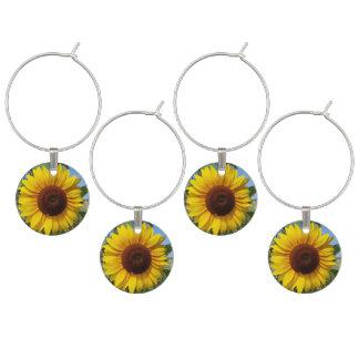 Sunny Sunflower Wine Charm