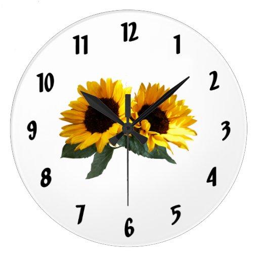 Sunny Sunflowers Round Wallclocks