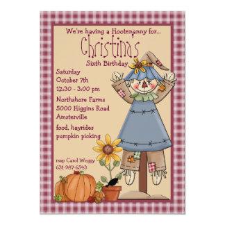 Sunny the Scarecrow Invitation