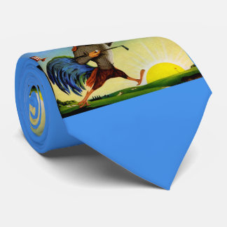 Sunny the Schenley Bourbon rooster on the golf cou Tie