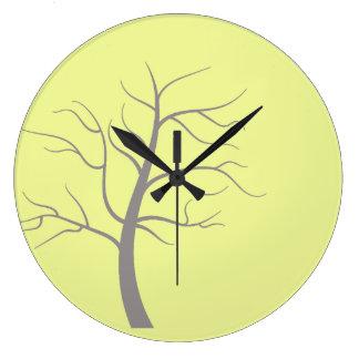 Sunny Tree Minimalist Round Wall Clock