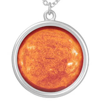 Sunny tree silver plated necklace