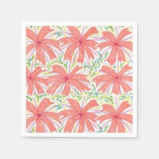 Sunny Tropical Flower Paper Napkins