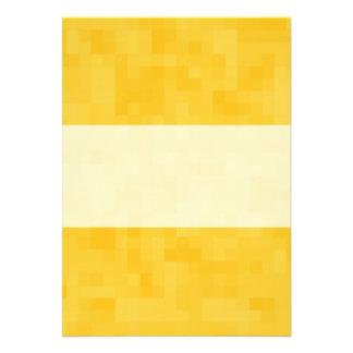 Sunny Yellow Abstract Design. Custom Invitation