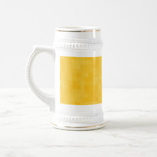 Sunny Yellow Abstract Design. Beer Steins