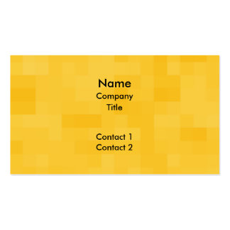 Sunny Yellow Abstract Design. Pack Of Standard Business Cards
