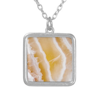 Sunny Yellow Agate Silver Plated Necklace