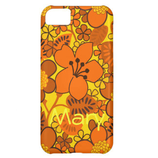 Sunny Yellow and Orange Floral Pattern iPhone 5C Case