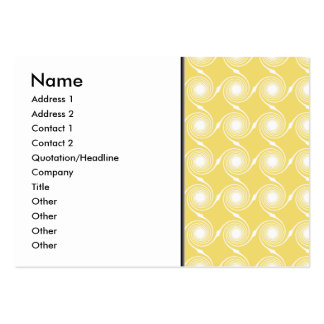 Sunny Yellow and White Swirl Pattern. Custom Pack Of Chubby Business Cards