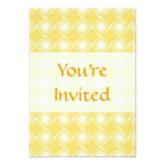 Sunny Yellow and White Swirl Pattern. Custom Personalized Invite