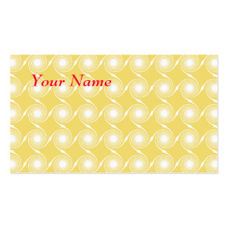 Sunny Yellow and White Swirl Pattern. Custom Pack Of Standard Business Cards