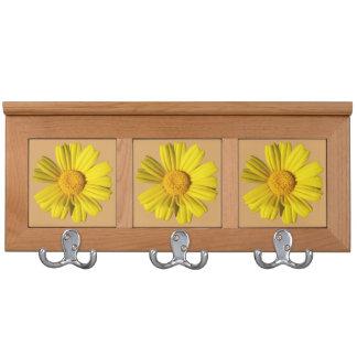 Sunny yellow chamomile coat racks