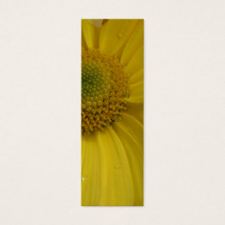 Sunny Yellow Flower Bookmark Mini Business Card