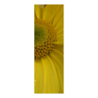 Sunny Yellow Flower Bookmark Pack Of Skinny Business Cards