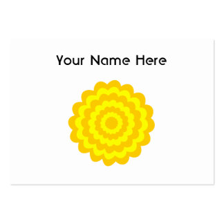 Sunny yellow flower. pack of chubby business cards