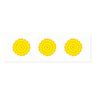 Sunny yellow flower. pack of skinny business cards