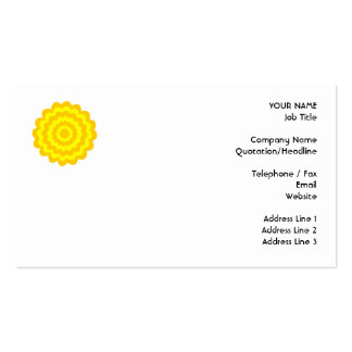 Sunny yellow flower. pack of standard business cards