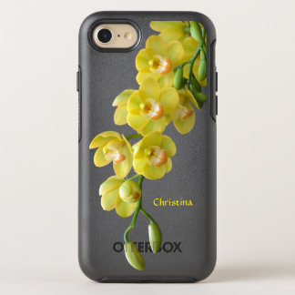 Sunny Yellow Friendship Orchid Floral OtterBox Symmetry iPhone 8/7 Case
