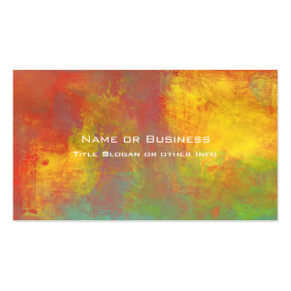 Sunny Yellow Orange Green Rustic Grunge Abstract Pack Of Standard Business Cards