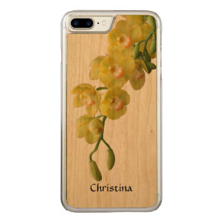 Sunny Yellow Orchid Handmade Custom Friendship Carved iPhone 7 Plus Case