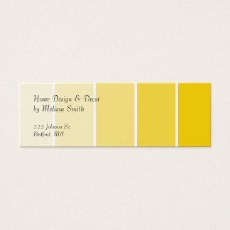 Sunny Yellow Paint Samples Mini Business Card