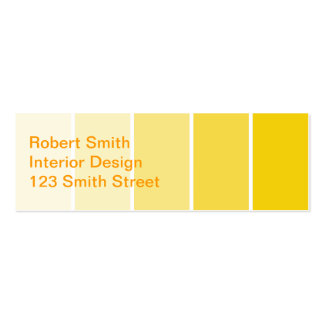 Sunny Yellow Paint Samples Pack Of Skinny Business Cards
