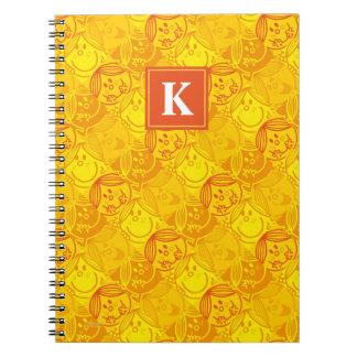 Sunny Yellow Pattern | Monogram Notebooks