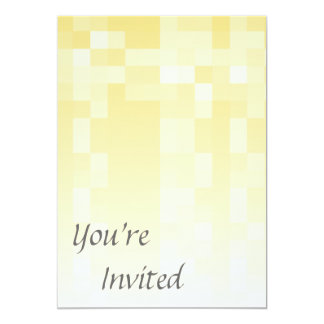 Sunny yellow pattern, squares design. 13 cm x 18 cm invitation card