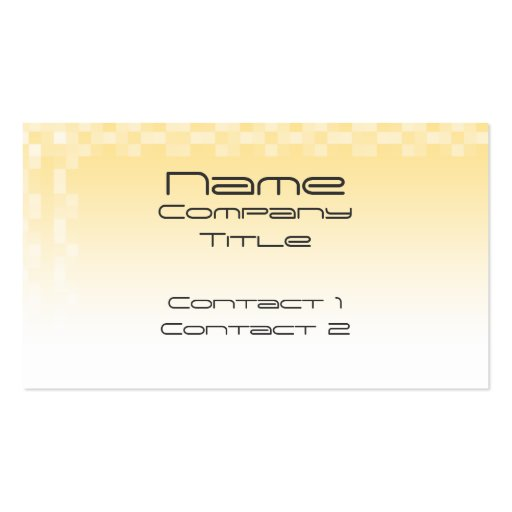Sunny yellow pattern, squares design. business card template