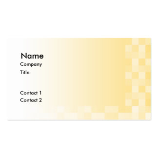 Sunny yellow pattern, squares design. pack of standard business cards