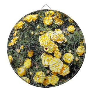 Sunny Yellow Rose Flowers Bus Dartboard