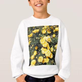 Sunny Yellow Rose Flowers Bus Sweatshirt