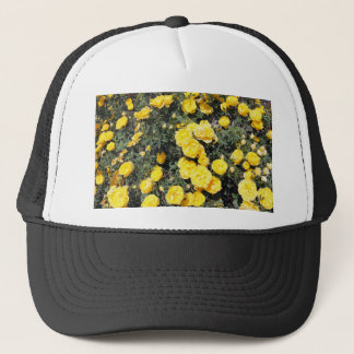 Sunny Yellow Rose Flowers Bus Trucker Hat