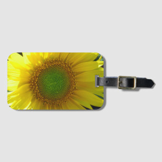 Sunny Yellow Sunflower Luggage Tag