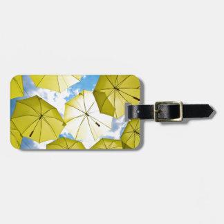Sunny Yellow Umbrellas Luggage Tag
