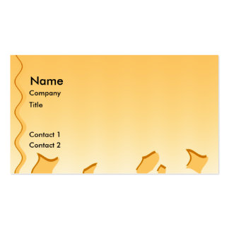 Sunny Yellow Waves Abstract Design. Pack Of Standard Business Cards