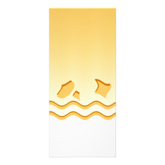 Sunny Yellow Waves Abstract Design. Rack Card