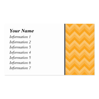 Sunny Yellow Zig Zag Pattern. Pack Of Standard Business Cards