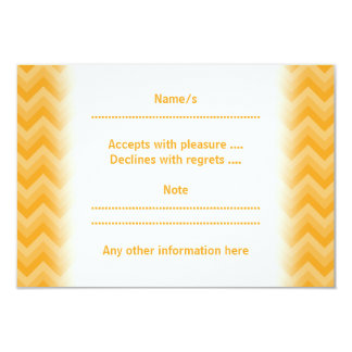 Sunny Yellow Zig Zag Pattern. Custom Announcement