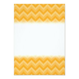 Sunny Yellow Zig Zag Pattern. Custom Invitation